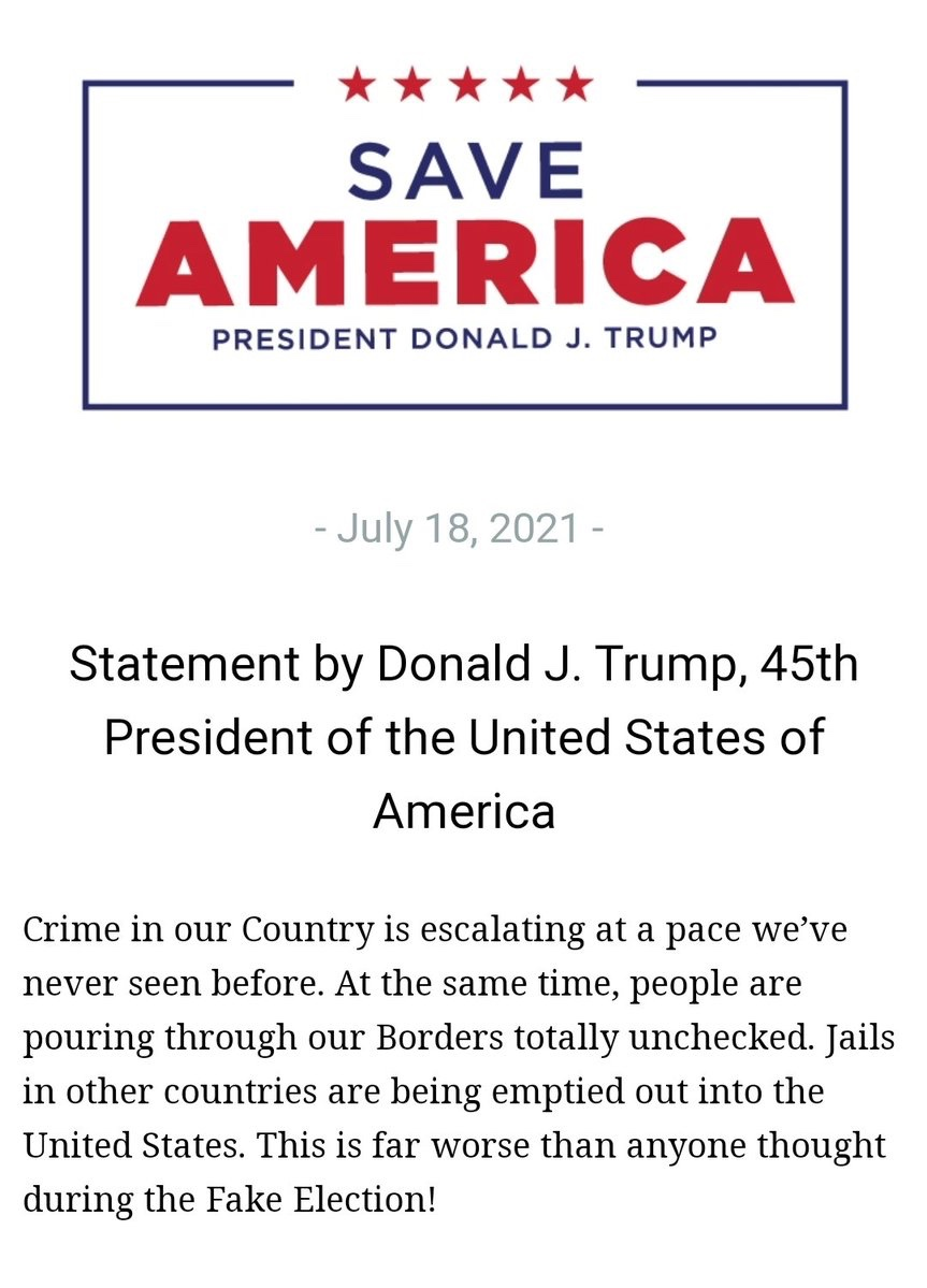 President Trump statement on crime in our country