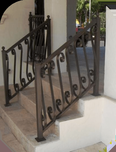 Exterior Stair Railings – Avion Metal Works Of Florida   Rod Iron Railings For Exterior Stairs   Front Porch   Porch Railing Kits   Railing Ideas   Railing Designs   Custom