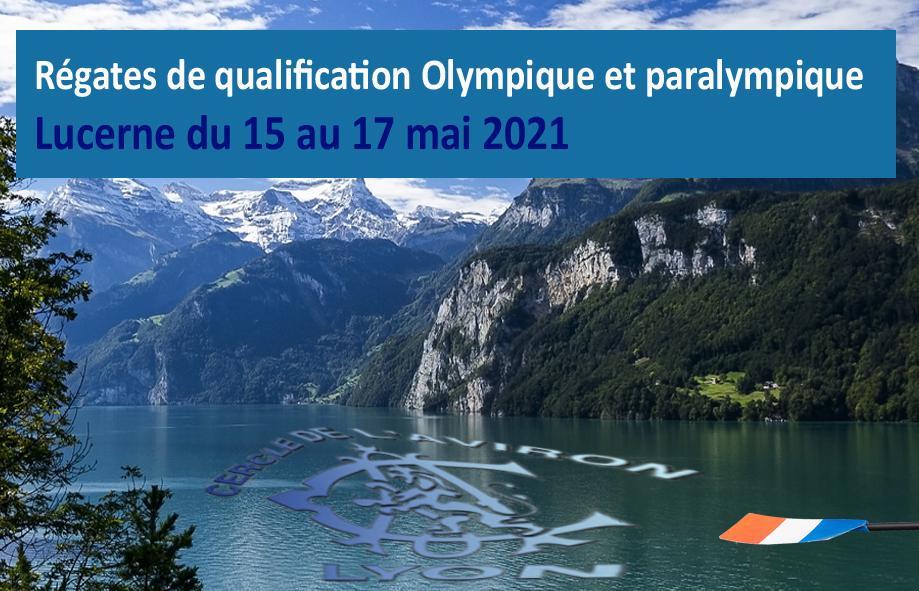 Aviron Régate de Lucerne qualification aux J.O Cercle Aviron Lyon