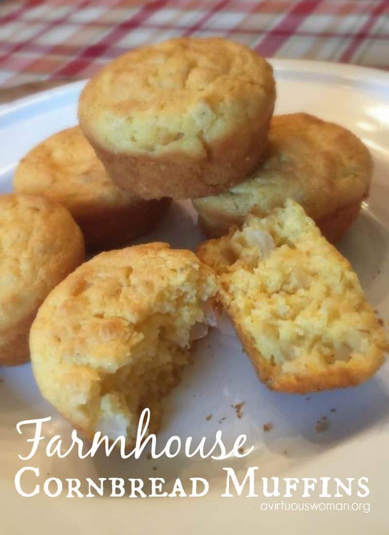 Farmhouse Cornbread Muffins A Virtuous Woman