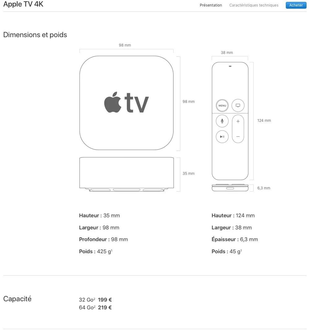 Apple tv ultra hd 4k 32go: une résolution époustouflante