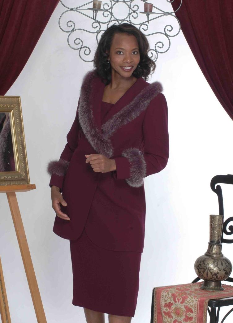 Avis Boone Catalog burgundy suit - D Shi