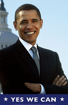 Barack Obama Yes We Can : barack, obama, Barack, Obama, Print