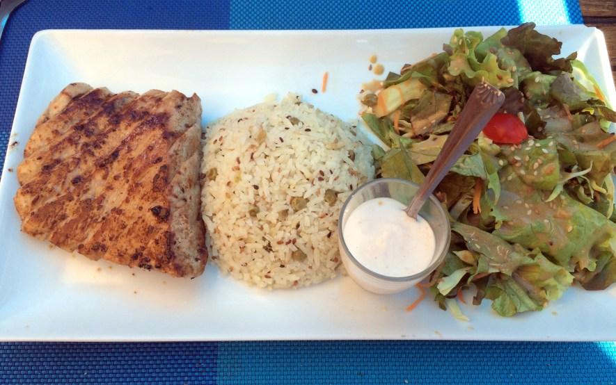Avis restaurant poisson Ti Mahi Mahi Saint Gilles les Bains 974 Ventreche de Thon
