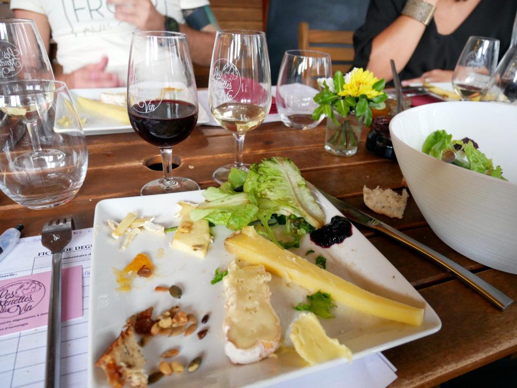 les nenettes du vin cours oenologie atelier vin fromage la reunion 974 au bon fromage assiette 3