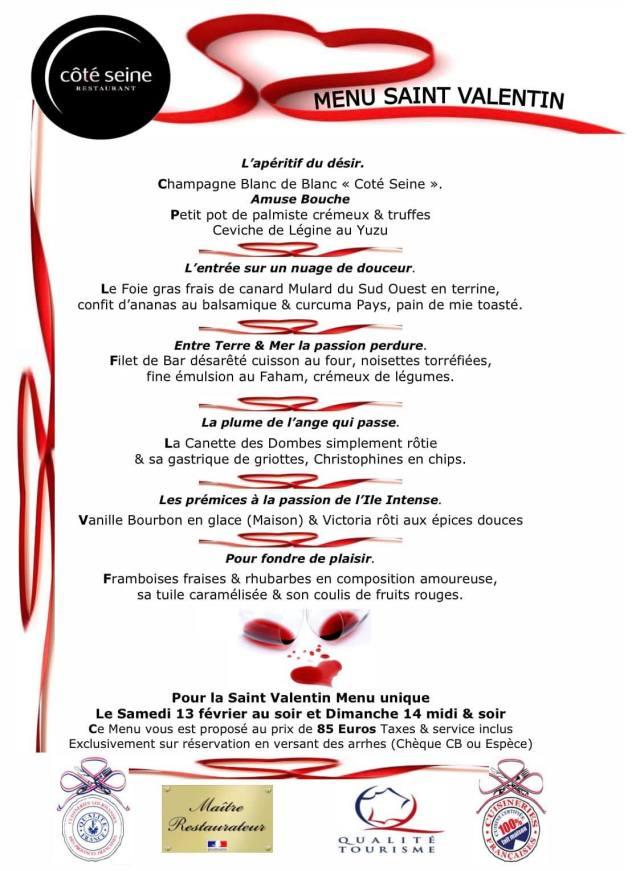 menu saint valentin 2021 restaurant cote seine saint denis la reunion