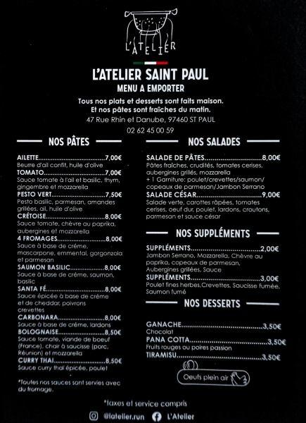 repas emporter saint paul reunion 974 atelier pates fraiches
