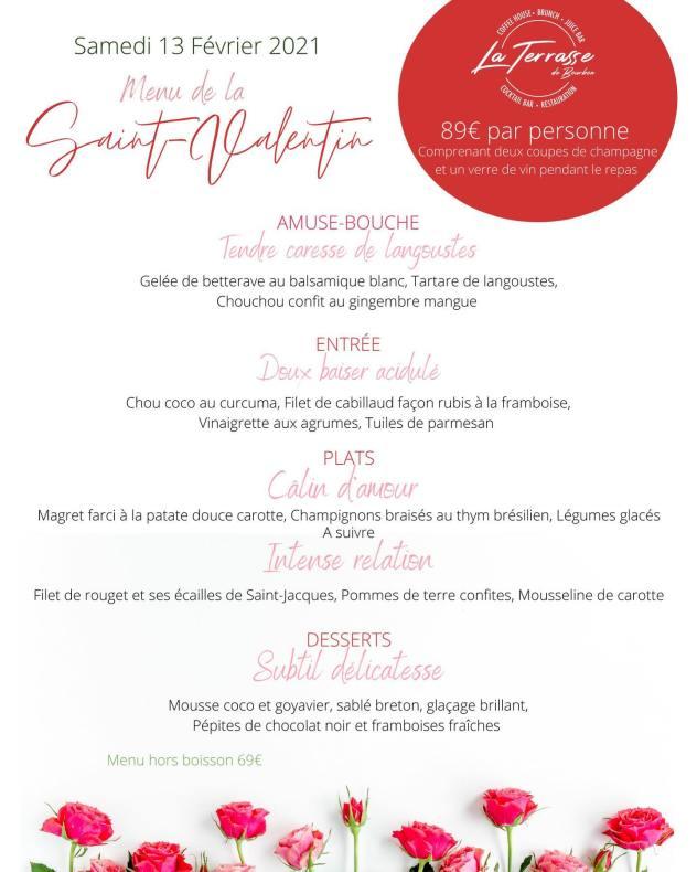 menu saint valentin 2021 terrasse de bourbon saint denis