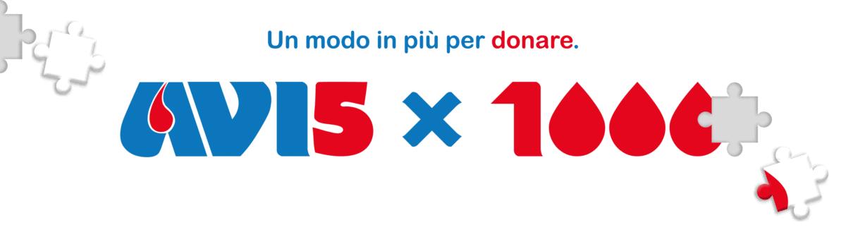 Banner per il 5 per mille ad Avis C.F. 03469110377