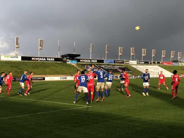FC Fredericia - Fremad Amager. 28. Oktober 2018. Foto: Andreas Dyhrberg Andreassen, Fredericia AVISEN.