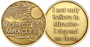 Expect Miracles Bronze Medallion
