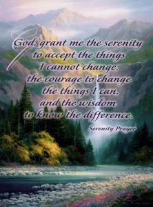 Beautiful Hidden Water Falls Serenity Prayer My Thoughts Are With You Card