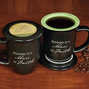 Man of Faith Mug and Coaster Set