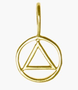 Alcoholics Anonymous Gold Charm 391-1