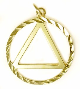 Alcoholics Anonymous Gold Charm 11-1