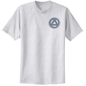 Circle Triangle Service Symbol Ash Tee Shirt