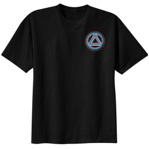 Circle Triangle Service Symbol Black Tee Shirt
