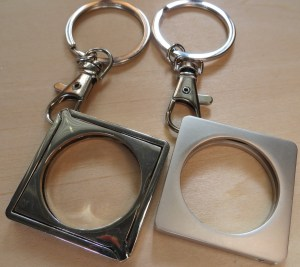Diamond Shape Medallion Holder Keychain