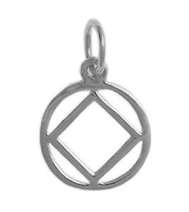 Narcotics Anonymous Symbol Medium Size Silver Charm 334-9