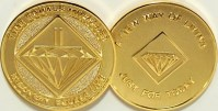 NEW Narcotics Anonymous Gold Plated Medallion