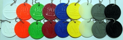 Narcotics Anonymous Key Chain Chips ef54bcb04d03