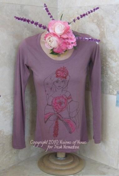 Venus Dreams in Bloom, Mauve 100 organic Tshirt