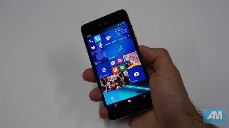Microsoft Lumia 650 Ergonomie
