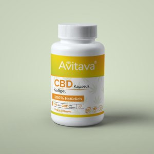 Avitava - CBD Softgel Kapseln 50 Stück a 10 mg CBD vegan und GMO frei