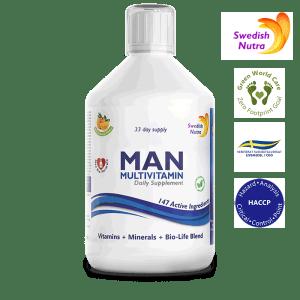 MAN Multivitamin 500 ml - für den täglichen Gebrauch - Swedish Nutra