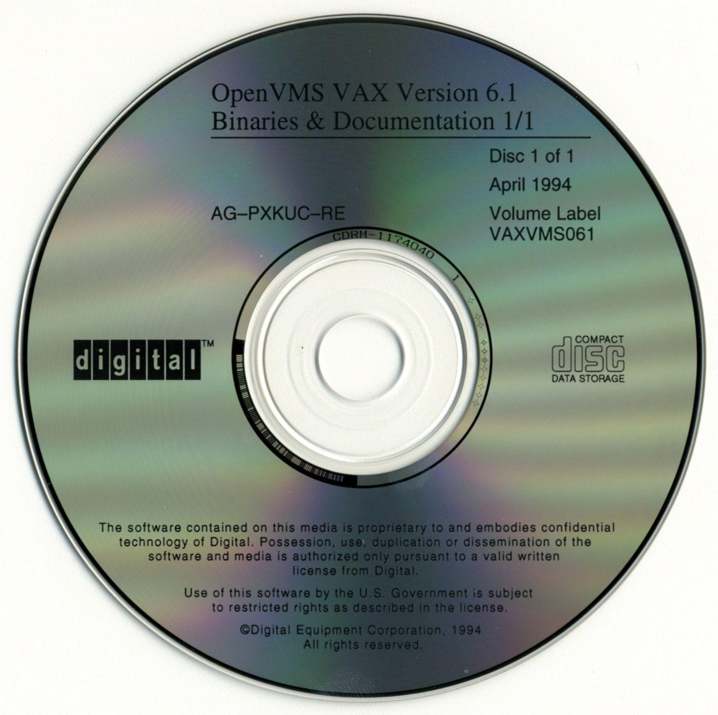 Imaging DEC VAX/VMS CDs – vintage bits
