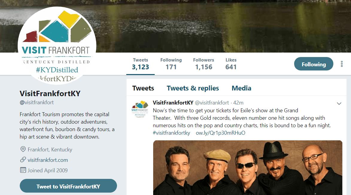 Frankfort Tourism Twitter
