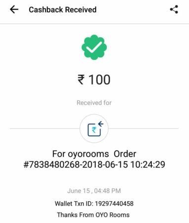 (Proof) Oyo – Refer 2 Friends & Get Rs.1000 oyo Cash on Signup + Rs.100 Paytm Cash(Proof) Oyo – Refer 2 Friends & Get Rs.1000 oyo Cash on Signup + Rs.100 Paytm Cash