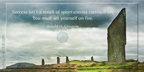 Success isn't a result of spontaneous combustion. You must set yourself on fire. -Arnold H. Glasgow - Quotes by A. V. Laudon