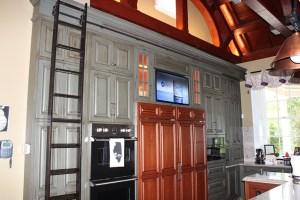 Olin Mansion kitchen with TV