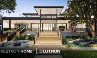 Crestron Home integrates with Lutron's Lighting and Shade control