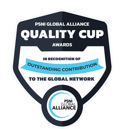 psni global alliance quality cup awards graphic