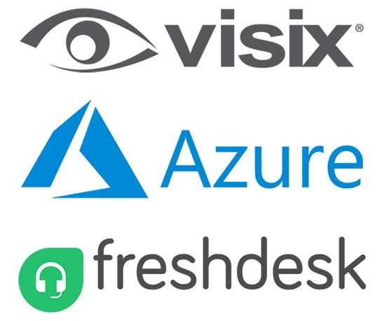 visix, azure and freshdesk logos