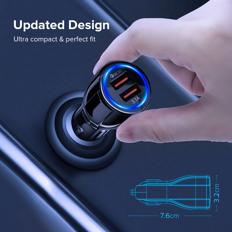 Universal Car Charger with Dual USB