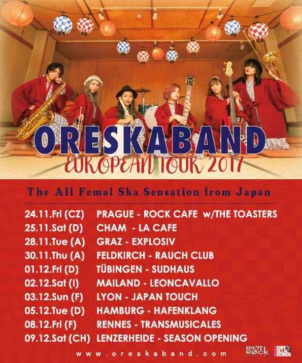 ORESKABAND European Tour 2017
