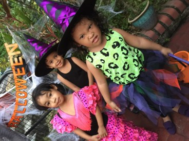 Little witches and a Flamenco Dancer