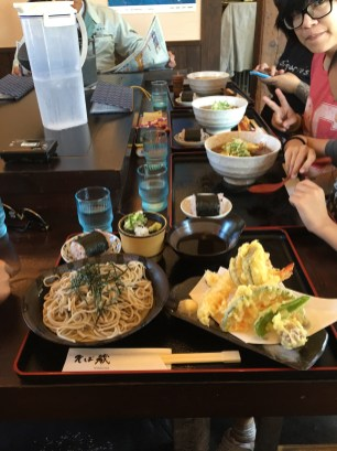 my tempura soba...