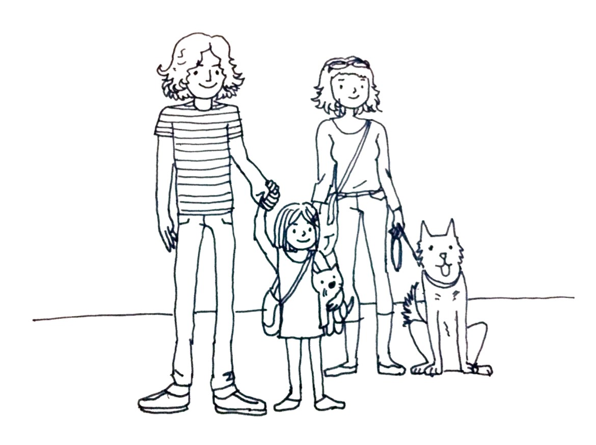 avocadolite family illustration, ari's version