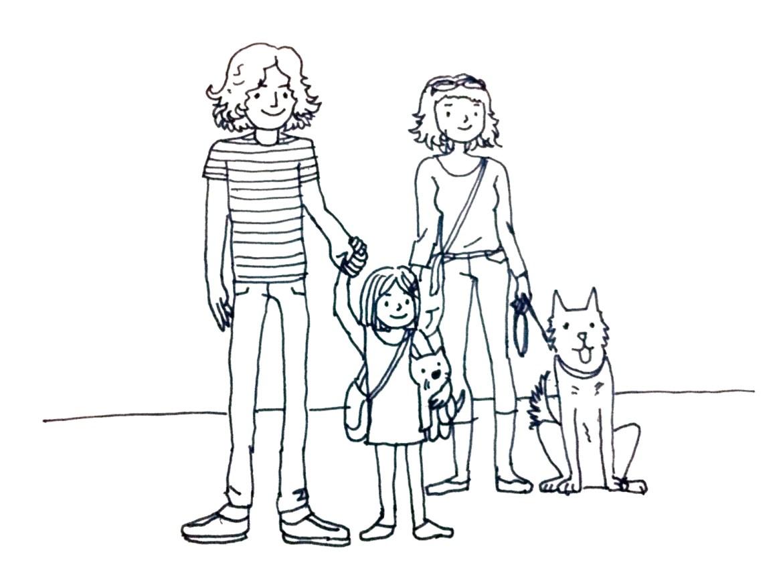 avocadolite family illustration, ari's version