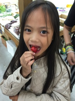 the bright and sweet japanese cherries