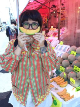 the expensive Hakodate melon!