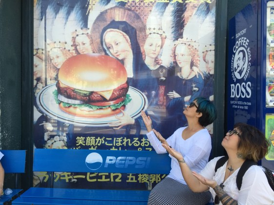 burger and mother mary