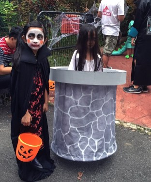 my little Sadako + her well with Naia the vampire