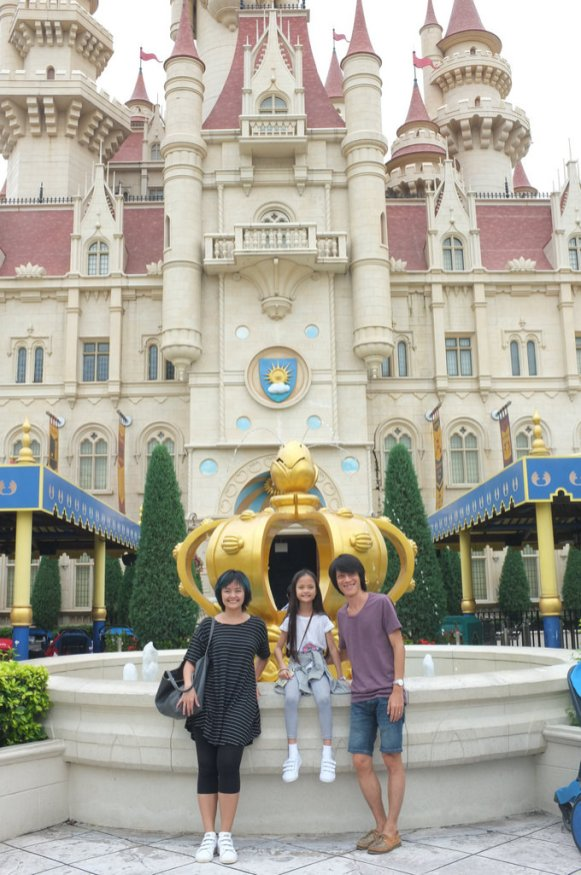In front of the Shrek's Castle