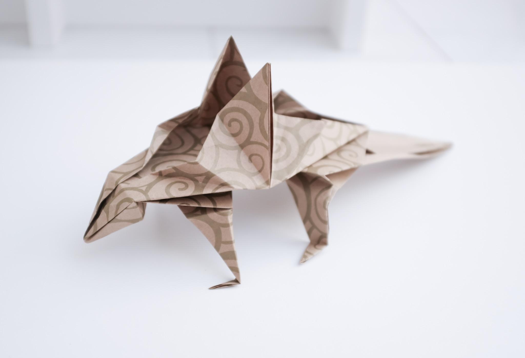 Origami Lizard | Design by Chris Heynen - Diagrams in 21st T… | Flickr | 1397x2048