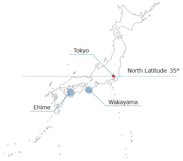 アボカド栽培マップ